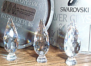 1990 Silver Crystal City Poplar Trees, Retired #7474 020 003 Stamey Vhtf