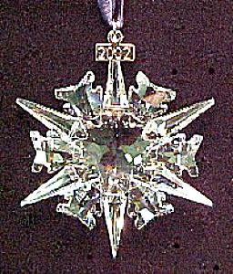 Swarovski Crystal 2002 Annual Snowflake Christmas Ornament Stella ...