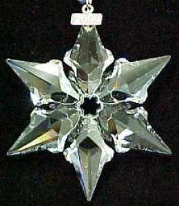 2000 SWAROVSKI CRYSTAL SNOWFLAKE ANNUAL Dated Christmas ORNAMENT SCO-00 SCO00 STAR 00 (Image1)