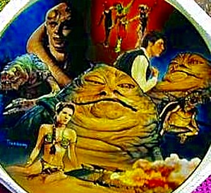 Star Wars Heros and Villains JABBA THE HUTT T. Treadway  Series 1999 (Image1)