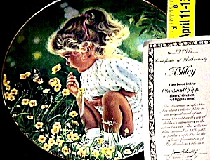 #1 Ashley Treasured Days US : Higgins Bond joys childhood Girl Flowers Butterfly (Image1)