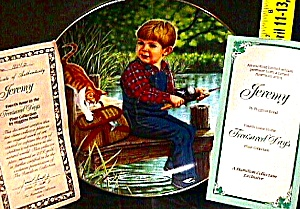 Jeremy Treasured Day Us : Higgins Bond Joys Childhood Boy Fishing Dock Tabby Cat