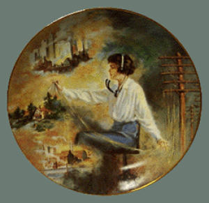 WEAVERS OF SPEECH SWITCHBOARD OPERATOR World Telecommunications Skidmore 1915 Pioneer (Image1)