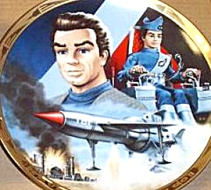 Scott Tracy Pilot : Thunderbird 1 Hamilton Plate 3 Thunderbirds Are Go Steve Kyte Uk