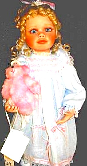 Heirloom Blonde Alexis Virginia E.turner Girl Pink Stuffed Angel Bear Halo Wings