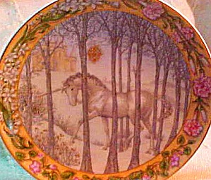 Enchanted Seasons of A Unicorn #4 Winter Tranquility HUTSCHENREUTHER LE MIB Hallett (Image1)