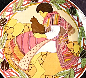 CHILDREN OF THE WORLD #6 South Central American Villeroy Boch Heinrich poncho cat '83 (Image1)