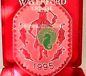 Waterford Crystal Angel Series #1 1995 Red Velvet Box Flat Dated Annual Series Irish
