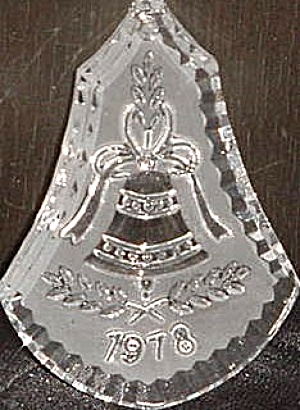1978 1ST FLAT DATED WATERFORD CRYSTAL CHRISTMAS BELL ORNAMENT Glass Box Bag First '78 (Image1)
