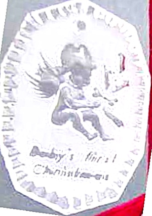 WATERFORD BABYS 1ST FIRST CHRISTMAS baby Waterford Crystal ORNAMENT NO DATE Undated (Image1)