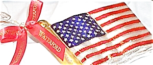 2002 WATERFORD HOLIDAY HEIRLOOMS AMERICAN FLAG #123924 MIB POLAND Patriotic (Image1)