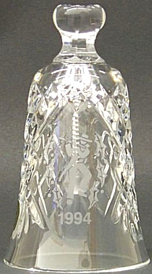 1994 BELL 11 ELEVEN PIPERS PIPING 12 Twelve DAYS OF CHRISTMAS WATERFORD CRYSTAL '94 (Image1)