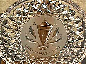 '84 CHRISTMAS HOLLY LAMP LANTERN WATERFORD Annual Crystal Plate 1984 (Image1)