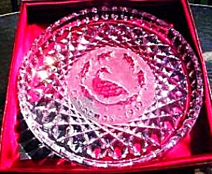 6 SIX GEESE A LAYING 12 Twelve DAYS OF CHRISTMAS Waterford Annual Crystal PLATES 1989 (Image1)