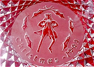 10 Ten LORDS A LEAPING 12 Twelve DAYS OF CHRISTMAS Annual Crystal Plates 1993 (Image1)