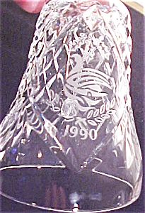 1990 SEVEN 7 SWANS A SWIMMING Waterford Crystal BELL 12 Twelve Days Of Christmas nbox (Image1)
