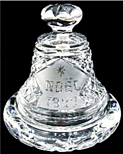 NEW WATERFORD NOEL 1977 CHRISTMAS DATED BELL & BASE  Clear Irish Crystal MINT Heavy (Image1)