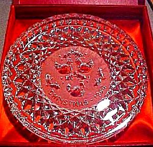 1986 WATERFORD CRYSTAL 12 DAYS OF CHRISTMAS 3 THREE FRENCH HENS Original Box 86 Plate (Image1)