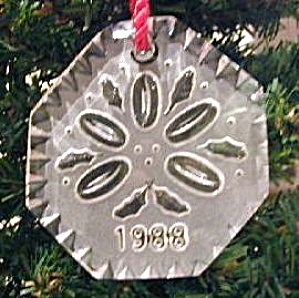 1988 5 FIVE GOLDEN Gold RINGS 12 Twelve DAYS OF CHRISTMAS WATERFORD CRYSTAL SERIES (Image1)