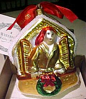 Waterford HOLIDAY HEIRLOOM OUT THROUGH THE WINDOW Red Kerchief Mamma Czech Ornament (Image1)