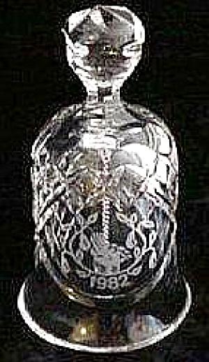 Waterford 12 Twelve Days of Christmas Partridge Pear Tree Bell 1982 HTF Irish Crystal (Image1)