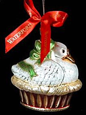 WATERFORD Blown Glass HOLIDAY HEIRLOOMS 6 GEESE A LAYING 12 Days 124800 Nest Goose 03 (Image1)