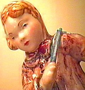 GIRL WITH TOP ENOCH TUNSTALL 1980 5.5 IN. Staffordshire Figurine Unicorn Head Logo (Image1)