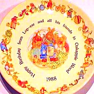 Oakapple Wood Happy Birthday Plate Lop-ear Amy Pippin Pollensnuff Vegetable Competiti