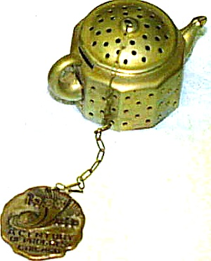 Mini-Teapot from 1933 Century of Progress World's Fair Souvenir by Knobby Kraft w/Tag (Image1)