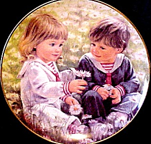 Abbie Williams Little Talks With God #2 God Is Everywhere Roman Girl Child Kids Plate