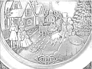 1978 WILTON #1CURRIER & IVES VICTORIAN Family CHRISTMAS Street Scenes Shoppes Couples (Image1)