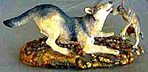 Morning Romp : Wolves of  the Wilderness British Artist David Geenty (Image1)