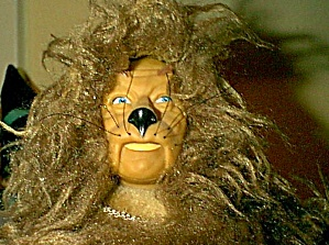 Presents Cowardly Lion Doll Wizard Of Oz + Yellow Brick Road Woz Ybr 1987 Tag Mint Me