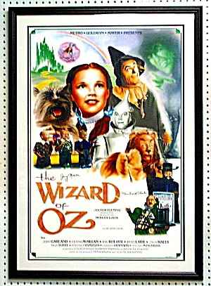 WIZARD OF OZ 29X42 POSTER SIGNED:2 MUNCHKINS (Image1)