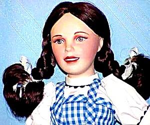 Judy Garland as Dorothy Wizard Of Oz Franklin Mint Porcelain Heirloom Doll 1989 (Image1)