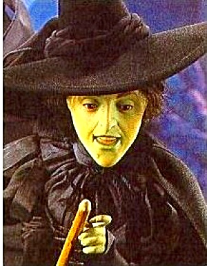 Margaret Hamilton Wicked Witch of West Wizard of Oz Franklin Mint Porcelain 17 in (Image1)