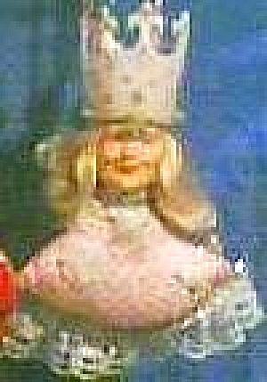 PRESENTS Wizard of Oz Holiday Ornament GLINDA GOOD WITCH Vinyl Cloth1989 WOZ 50th Ann (Image1)