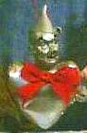 PRESENTS Wizard of Oz Holiday Ornament TINMAN TIN MAN Vinyl Cloth1989 WOZ 50th Annive (Image1)