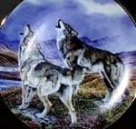 Song Of The Wolf : Year of The Wolf Hamilton Collection -Artist Al Agnew WOLVES