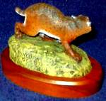Click to view larger image of Bobcat An American Wildlife Bronze H N Deaton Artists 1979 Hamilton Coll Newton Iowa (Image2)