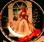 Click here to enlarge image and see more about item BARBIE11: 1994 Happy Holiday Barbie Enesco Mattel LE Plate #115088 Annual Doll Series Box Blond
