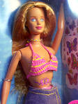 Click here to enlarge image and see more about item BARBIE1: Butterfly Art Barbie AKA Barefoot Beach Bimbo 1998