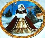 Click here to enlarge image and see more about item BARBIE9: 1996 Happy Holidays Barbie Enesco Mattel LE Plate Annual Blonde Doll #188816