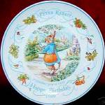 Click here to enlarge image and see more about item BPOTTER21: Peter Rabbit 1999 Happy Birthday Wedgwood Wedgewood #58991401002 Beatrix Potter '99