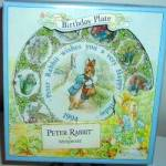 Click here to enlarge image and see more about item BPOTTER2: Peter Rabbit 1994 Happy Birthday Wedgwood Wedgewood #96143 Mint Potter Mail Mailman