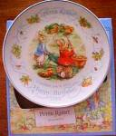 Click to view larger image of '00 BEATRIX POTTER PETER RABBIT BIRTHDAY Plate 2000 Nurseryware Nursery Ware Wedgwood (Image2)