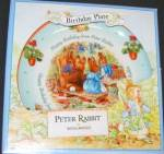 Click here to enlarge image and see more about item BPOTTER5: '01 BEATRIX POTTER PETER RABBIT BIRTHDAY Plate 2001 Nurseryware Nursery Ware Wedgwood