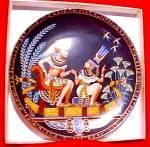 Click to view larger image of 1991 EGYPT LEGEND OF TUTANKHAMAN & HIS PRINCESS #1 OSIRIS PORCELAIN BRADFORD Tut (Image4)