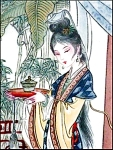 Click here to enlarge image and see more about item BRAD6: 10-150-1.5 BradEx Beauties of Red Mansion Artist Zhao Humins Imperial Jingdezhen Porc