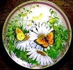 Click here to enlarge image and see more about item BUTTER3: 1987 ORANGE SULPHUR : BUTTERFLY GARDEN/SWEANY